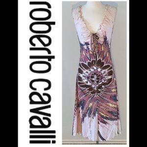 Roberto Cavalli Multi Color Cocktail Dress